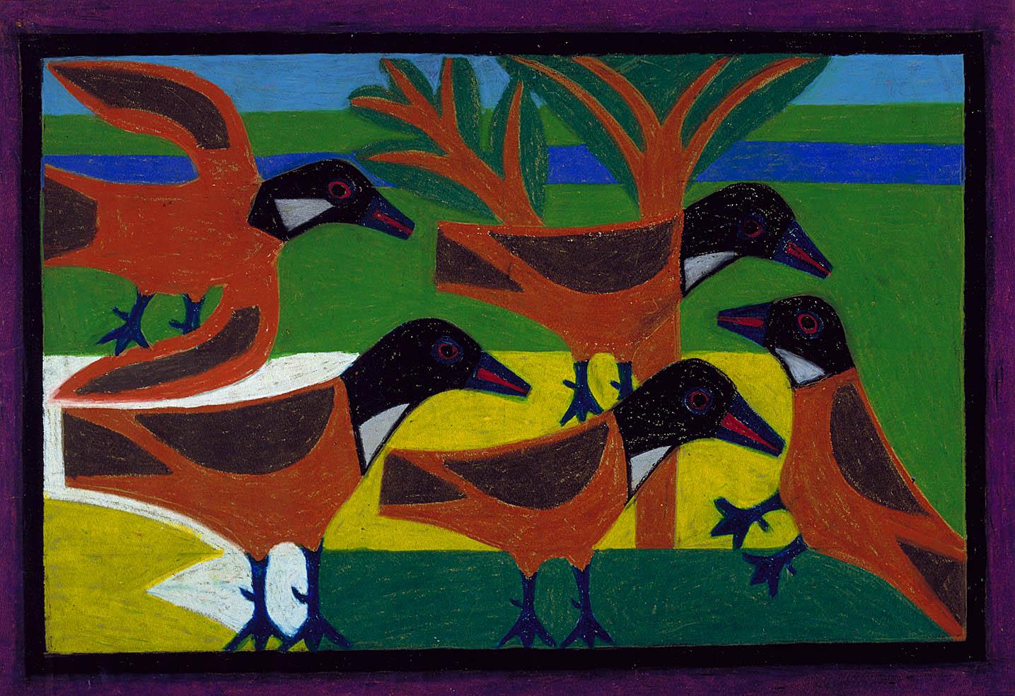 Birds by Eddie Arning