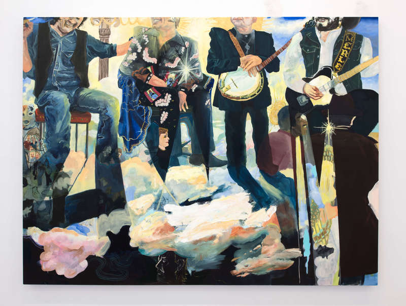 george-jones-greeting-the-newest-members-of-heavens-band-by-celeste-dupuy-spencer-marlborough-contemporary-new-york-gallery